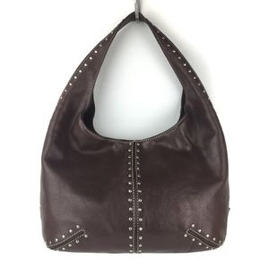 Michael Kors Brown Studded Hobo